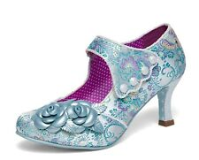 Joe Browns NEW Charlotte light blue embroidered high heel shoes sizes 3-8 UK