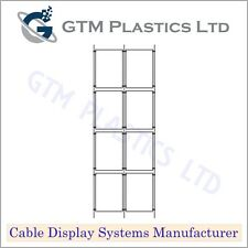 Cable Window Estate Agent Display - 2x4 A4 Portrait - Suspended Wire Systems