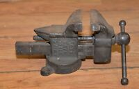 "Rare A. M. & F. Co Athol Mass vise model 023 1/2 collectible 3 1/2"" jaws tool"