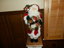 "Large Santa Claus Figure Saks Fifth Avenue 27"" Gorgeous ! New"