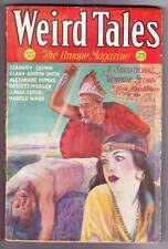 Pulp WEIRD TALES March 1932 - Clark Ashton Smith, Seabury Quinn - VG/F Red spine