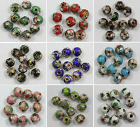 120pcs Colorful Handmade Cloisonne Round copper Loose Spacer Beads Craft 6//16mm