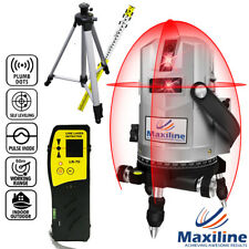 4V4H Self Levelling Cross Line Laser Level + Laser Detector + Tripod Staff Video