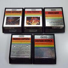 5X ATARI 2600 GAME IMAGIC - FIRE FIGHTER - TRICK SHOT - STAR VOYAGER (I900)