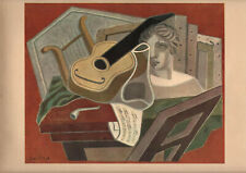 "JUAN GRIS LITHOGRAPH PRINT ON PAPER ""THE MUSICIAN'S DESK"""