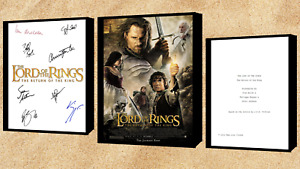 Lord Of The Rings The Return Of The King Movie Poster And Autograph Signed Print