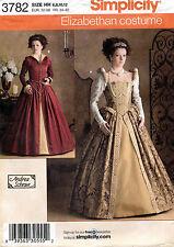 Simplicity Misses' Renaissance Elizabethan Costume Pattern 3782 Size 6-12 UNCUT