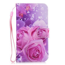 Bear Rose Card Holder Wallet Leather Flip Case Cover Stand For Samsung Model