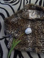 Leo Leopard Faux Fur Felljacke Gr. 122 H&M Winterjacke schwarz braun beige TOP