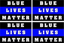 Thin Blue line Blue Lives Matter decal, Reflective 4 Pack