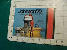 Vintage CLEAN Boat Brochure/ CATALOG: JOHNSON'72 MINI, 8pgs