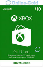 XBOX Live Card 10 USD Gift Code - Microsoft Xbox One Xbox 360 Key - US