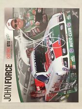 John Force Autographed 8x10 Castrol Ford Mustang Funny Car Champ Photo Card
