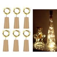 6PC Cork Shaped LED Night Light Starry Light Wine Bottle Lamp Home Party Decor A