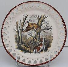 ASSIETTE DECORATIVE EN FAIENCE - LIMCOLOR - BRACHET - LE FAISAN - D. 25,5 cm