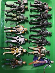 Star Wars Black Series 6 Inch Loose Lot Trooper  Mandalorian Clone Fett Droid