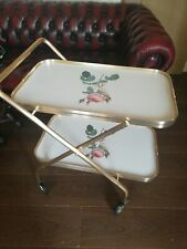 Vintage English Rose  Hostess Tea Trolley