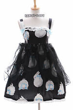 Jsk-03 lapin rabbit bunny noir Gothique Lolita Robe Stretch Dress Cosplay