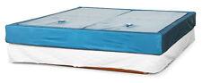 2 Softside Wasserbettmatratzen Dualsystem inkl. Sicherheitswanne und Trennwand