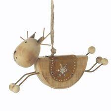 rustic wooden hanging reindeer decoration Heaven Sends