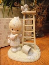 Precious Moments FigurineMy Days Are Blue Without You 1988 520802 Ladder Mib