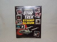 Official Star Trek Stamp Album Collection #1 Some Stamps in place + loose stamps