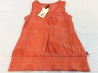 Prana Burnt Orange Organic Cotton Womens XL Chrissy Paisley Tank Top NWT