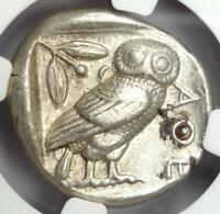 Athens Greece Athena Owl Tetradrachm Coin (455-440 BC) - NGC XF - Early Issue!