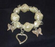 Pearl Plastic Beaded Costume Bracelets