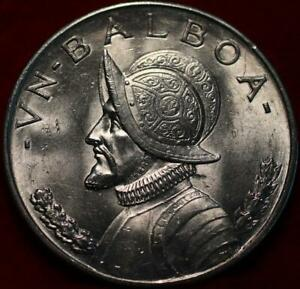 Uncirculated 1947 Panama Balboa Silver Foreign Coin