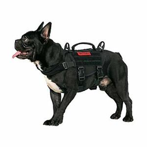 Tactical Dog Harness Small Dog Puppy No-Pull Adjustable Military Vest