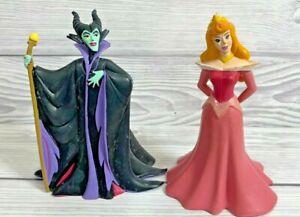 Disney Sleeping Beauty Aurora Maleficent VINTAGE Figures Bullyland
