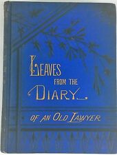 1880 Leaves Diary Lawyer INTEMPERENCE Great Source Crime Alcoholism temperence