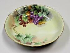 ANTIQUE LARGE T & V LIMOGES HAND PAINTED  BOWL WITH GRAPES