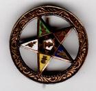 5 VINTAGE METAL PINS, 1940-50? LIBERTY LOAN, EASTERN STAR, WAR PRODUCTION, FFA