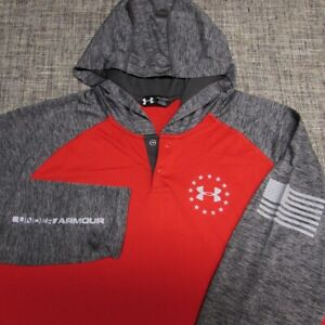 UNDER ARMOUR LONG SLEEVE HOODIE SOFT POLY SHIRT--L--EXCEPTIONAL QUALITY!!