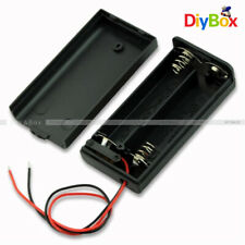 2A 2 AA Battery Holder Box Case with ON/OFF Switch and Cover for 2AA battery