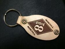 Hells Angels Tucson, AZ - Oval Diamond 81 Support Leather Key Ring