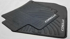 Toyota Corolla 2009 2013 Black Rubber All Weather Floor Mats Set Of 4 Oem New Fits 2012 Toyota Corolla