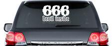 666 Devil inside - ca. 50 cm Aufkleber