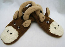 LONGHORN MITTENS knit animal long horn ram ADULT ram dodge LINED mountain goat