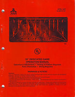 ATARI MAXIMUM FORCE ORIGINAL VIDEO ARCADE GAME OPERATION SERVICE MANUAL 1997