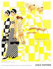 PUBLICITE ADVERTISING  2013   LOUIS VUITTON  haute couture damier