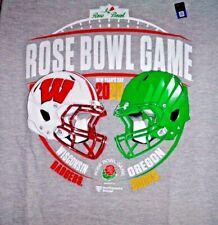 2020 Rose Bowl Oregon Ducks Wisconsin Badgers Dueling Grey T Shirt Ships I Day