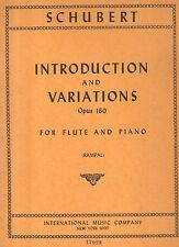 shubert - introductions and variations opus 160 - for flute and piano