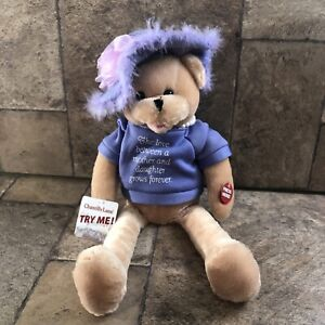 Chantilly Lane Musical Bear Pearl's Daughter Sings That's What Friends Are For