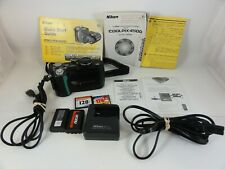 Nikon COOLPIX 4500 4.0MP Digital Camera Black Tested With Charger & Manual