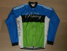 CAPO EVER GREEN CYCLING MULTI COLOR LONG SLEEVE JERSEY FULL FRONT ZIPPER MEN L