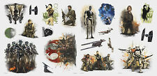 STAR WARS ROGUE ONE WALL DECALS 20 Big Peel and Stick Stickers Fan Room Decor
