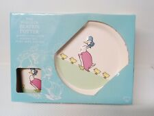 The world of Beatrix Potter Jemima Puddle Duck Nursery Set Plate Bowl And Mug